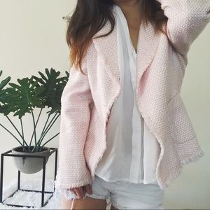 WDNY fringe spring time tweed blazer